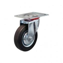Otočné kolo fi 80mm - kov - guma